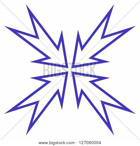 Meeting Point vector icon. Style is thin line icon symbol, violet color, white background.