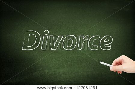 Divorce on blackboard