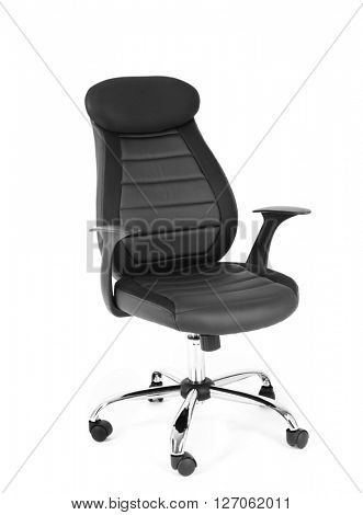 New office chair isolated on white