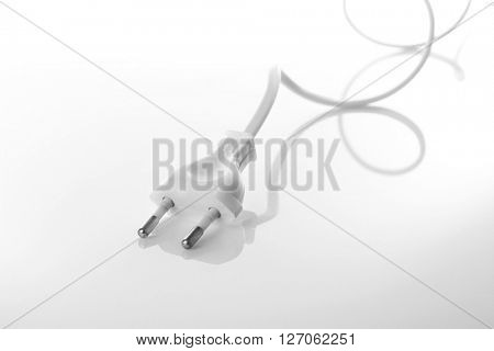 Power plug isolated on white