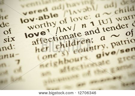"Dictionary Definition Of The Word ""love"" In English"