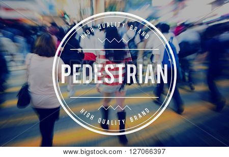 Pedestrian Walker Active Foot Traffic Tedious Boring Concept