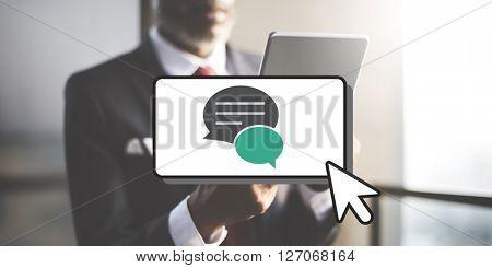 Message Communication Networking Speech Bubble Concept