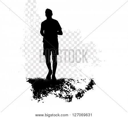 Sport background. Runner