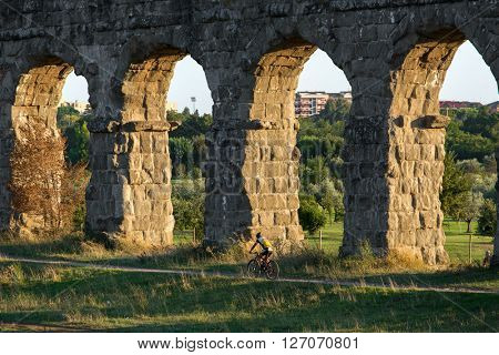 Ruins of Ancient Roman Aqueducts, Rome, Italy
