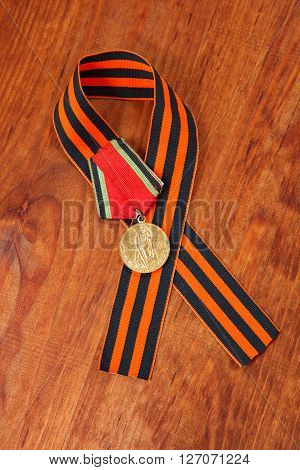 Jubilee Medal 20 Of Victory In The Great Patriotic War Of 1941-1945 And George's Ribbon