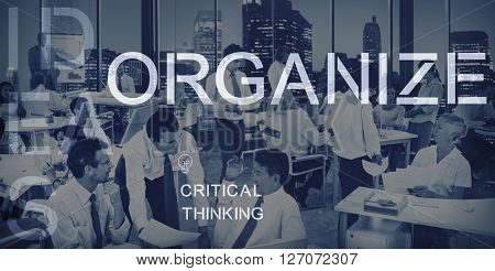 Organize Management Arrange Plan Manage Concept
