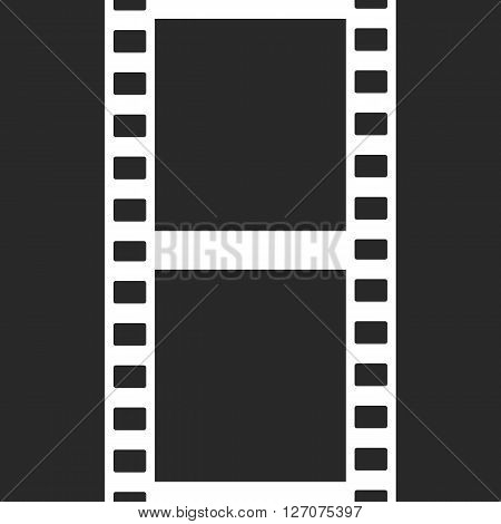 Vector Film Strip Illustration on Black Background. Abstract Film Strip design template. Film Strip Seamless Pattern.