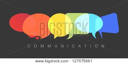Vector abstract Communication concept illustration - dark communication version
