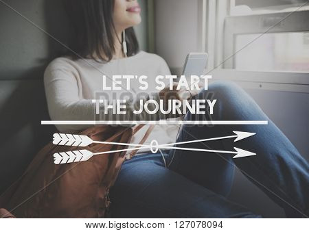 Let's Start The Journey Life Trip Traveling Concept