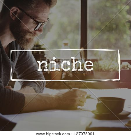 Niche Specialty Expertise Word Concept