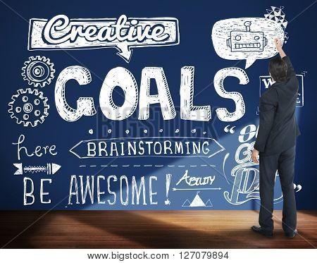 Goals Creative Hopeful Inspiration Sketch Concept