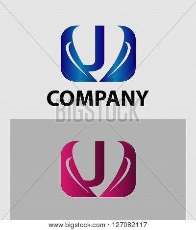 Letter J logo. Letter J ogo icon design template elements