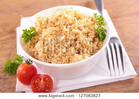 bowl of bulgur