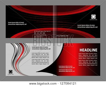 Tri-fold Brochure Layout Design Template, flyer vector