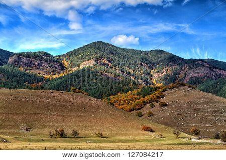 Autumn landscape in the mountains of Lago-Naki North Caucasus Russia