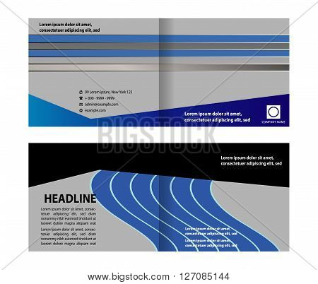 booklet template design vetor catalog brochure abstract