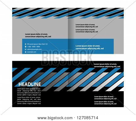 Bifold brochure. Bi-Fold Brochure Design. Corporate Leaflet, Cover Design Template