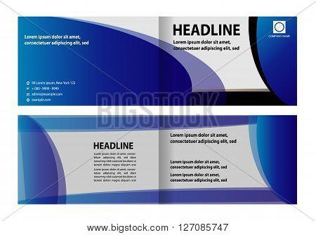 Bi-Fold Brochure Design. Corporate Leaflet, Cover Design Template