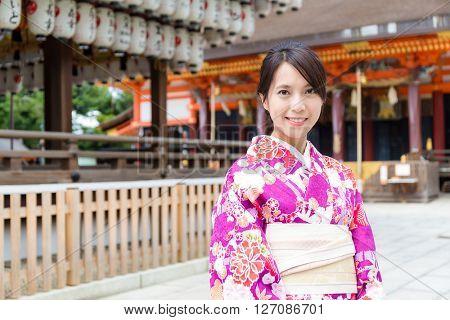 Japanese woman with kimono