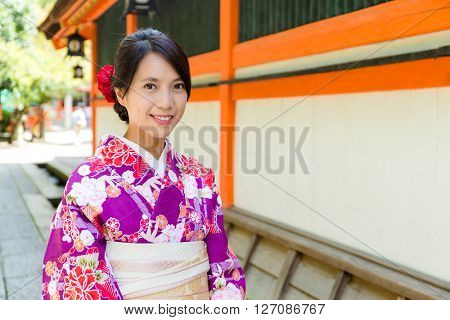 Young japanese woman with kimono