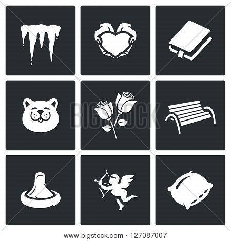 Icicles, Heart, Book, Cat, Rose, Bench, Condom, Cupid, Pillow