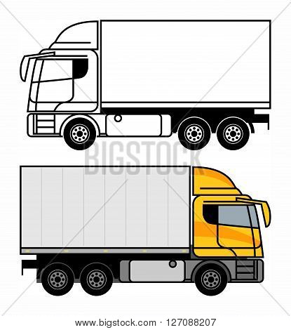 Delivery Cargo Truck on white background, vector illustration
