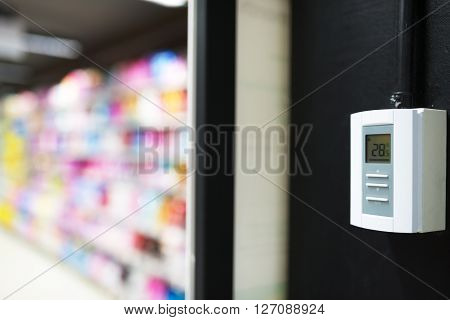 Measurement Air Conditioner In Power Source Room