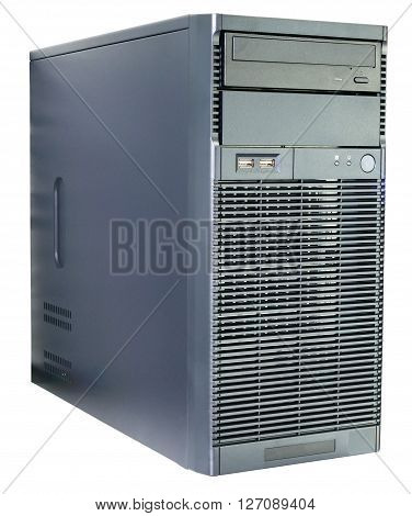 Desktop server isometric view isolated on the white background