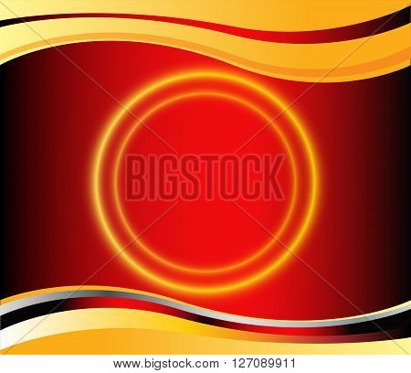 vector of abstract background. Red background graphic curve line for text and message modern web design