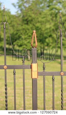 image of one fence with gold decoration