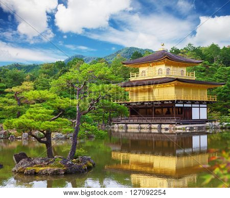 Kinkaku-ji, Golden temple in Kyoto, Japan