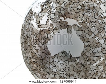 Australia On Translucent Earth