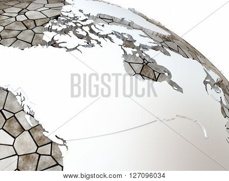 Canada On Translucent Earth