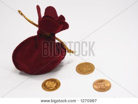 Sack und gold-Münzen