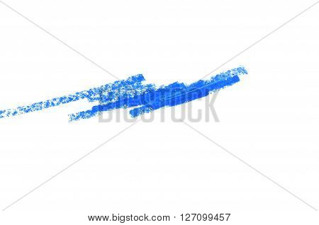 Eyeliner Pencil blue color isolated on white