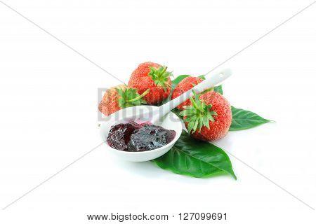 Fresh Strawberry And Jam
