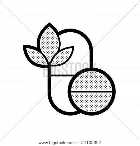 Pills Alternative medicine icon support vector design  eps 10.