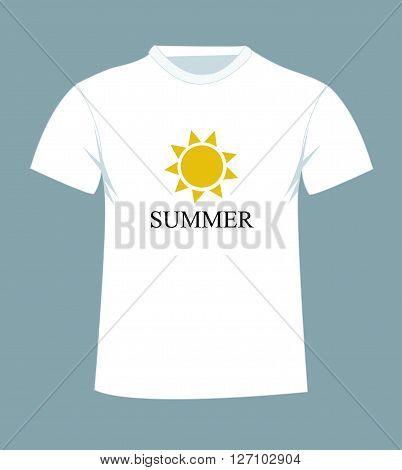 T-shirt design with sun vector illustration art