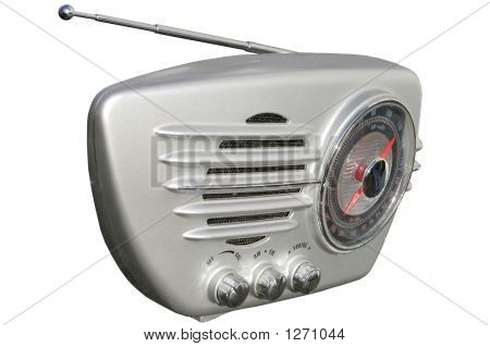 Silver Retro Radio