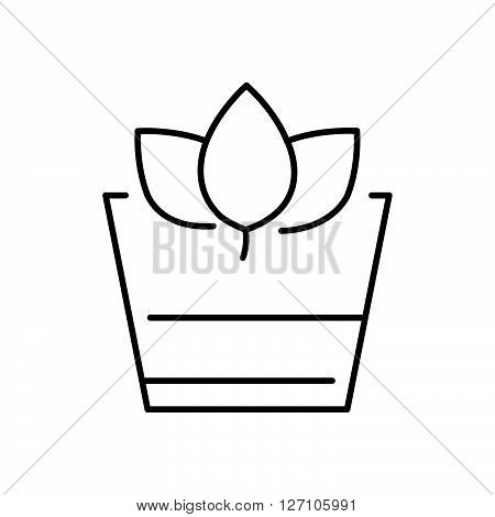 Line Icon Style Herbal Drink icon support vector design  eps 10.