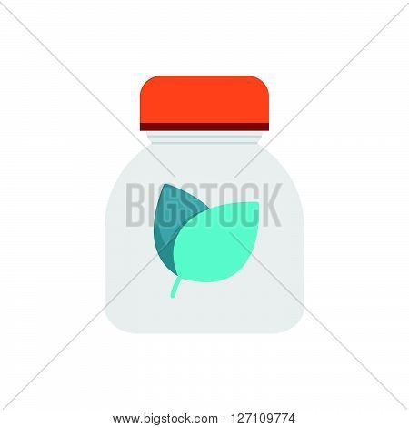 Flat Icon Herbal medicine bottles icon support vector design  eps 10.