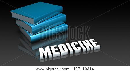 Medicine Class for School Education as Concept 3D Illustration Render