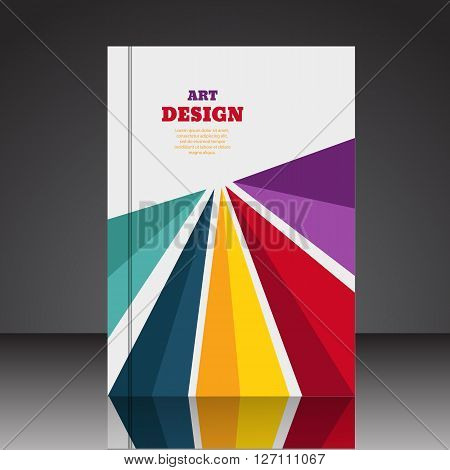 Abstract Composition Brochure Background A4 Eps10 Vector Illustration 7
