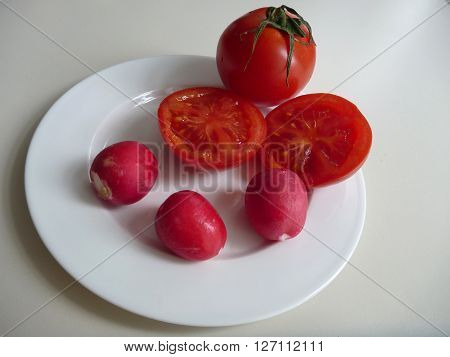 Mix Of Fresh Fruits And Vegetables