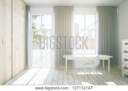 Interior With Light Wardrobe