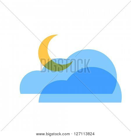 Night cloudy icon