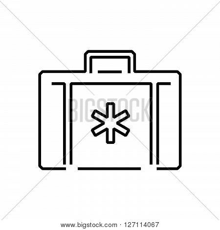 Line Icon Flat Design Ambulance Bag Icon