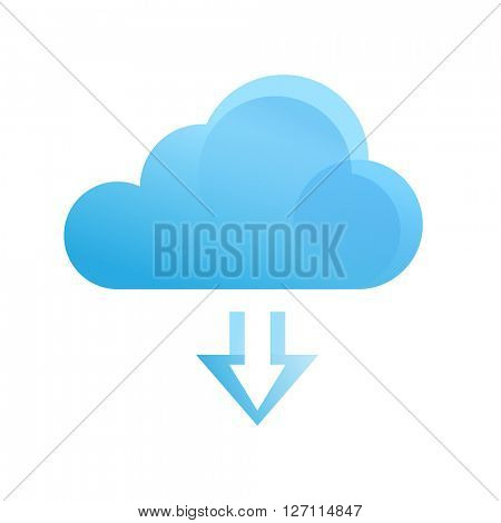 Downloading from the cloud icon