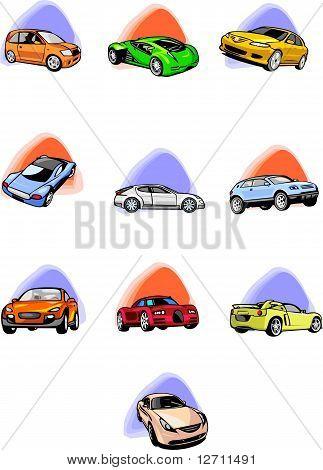 Ten passenger cars.
